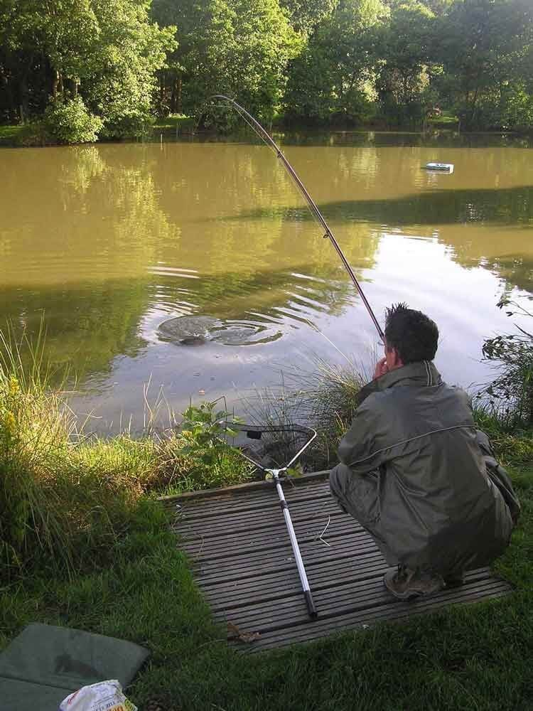 Typical of a summer evenings fishing at Nine Oaks